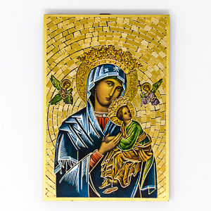 Mosaic Wall Plaque Our Lady of Perpetual Help.