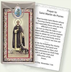 St.Martin De Porres Medal & Prayer Card.