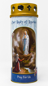 Pillar Candle - Lourdes.