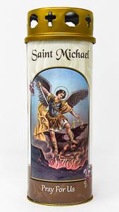Pillar Candle - Saint Michael.