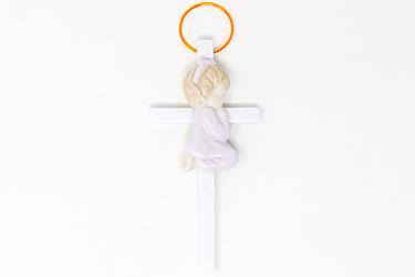Cross with Praying Girl.