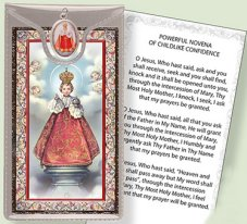 Prayer Card with Medal.