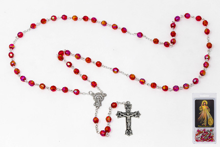 Prayer Card set & Divine Mercy Rosary.