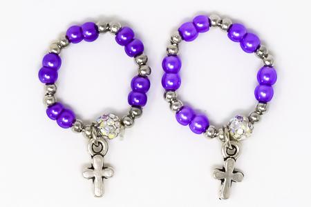 Purple Rosary Ring.