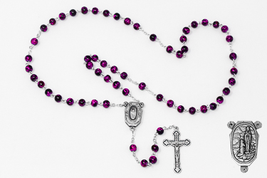 Lourdes Water Rosary Beads.