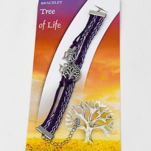 Purple Tree of Life Bracelet