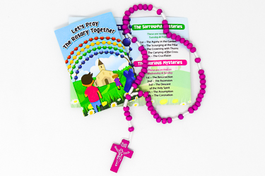 Purple Corded Wooden Rosary.