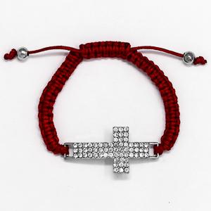 Pink Cross bracelet.