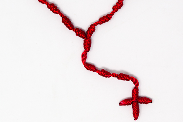 Red Knotted Rosary.