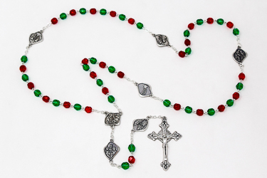 Green Christmas Rosary