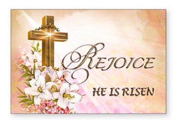Rejoice He Is Risen - Easter Card