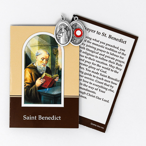 Prayer Booklet to St.Benedict with Relic Medal.