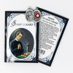 Prayer Booklet to St Gerard with Relic Medal.