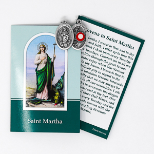 Prayer Booklet to St Martha with Relic Medal.