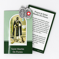 Prayer Booklet to St.Martin De Porres with Relic Medal.