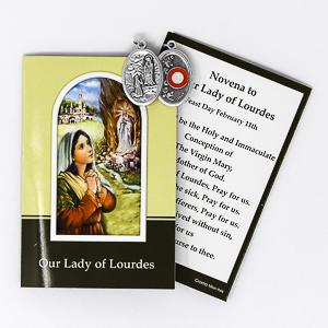 Prayer Booklet & St. Bernadette Relic Medal.