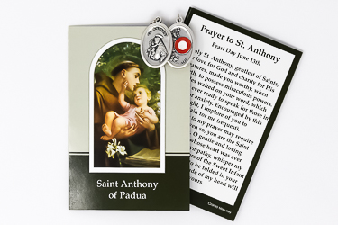 Prayer Booklet to St. Anthony with Relic Medal.