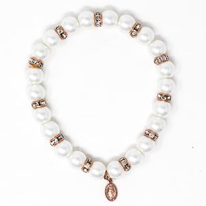 Miraculous Pearl Rosary Bracelet.