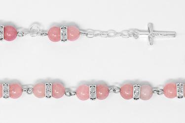 925 Rose Quartz Bracelet.