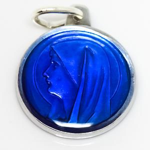 Blue Virgin Mary Medal.