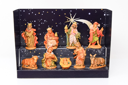 Hand Painted Nativity Figures.
