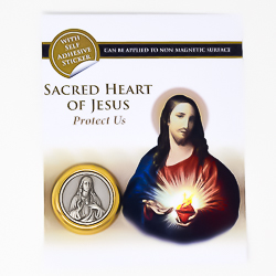 Sacred Heart Magnetic Car Plaque.