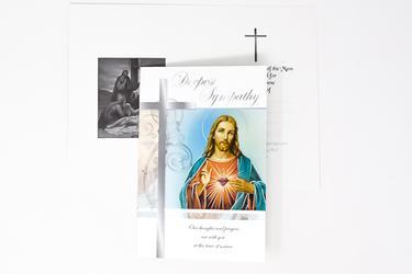 Sacred Heart Sympathy Mass Card.
