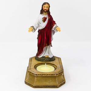 Sacred Heart of Jesus Statue Candleholder.