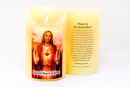 Real Wax Sacred Heart of Jesus Candle.
