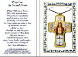 Sacred Heart of Jesus Cross Necklace.
