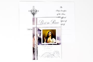 Sacred Heart of Jesus Sympathy Card.