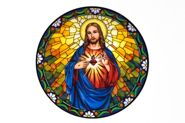 Sacred Heart of Jesus Window Sticker.