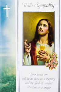 Sacred Heart of Jesus Mass Card.