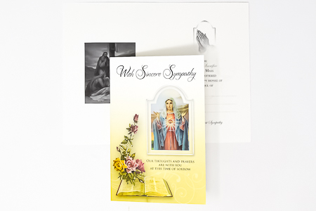 Sacred Heart of Mary  Sincere Mass Card.