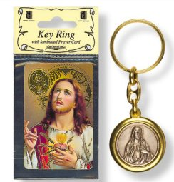 Sacred Heart of Jesus Key Ring & Prayer Card.