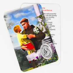 Saint Anthony Prayer Card & Medal
