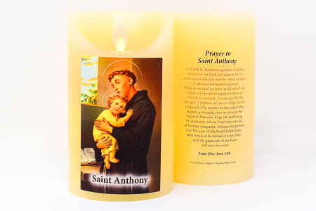 Real Wax Saint Anthony Candle.