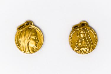 Bernadette Soubirous Gold Pendant.