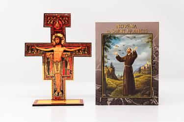 Saint Francis Wood Cross & Booklet.