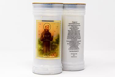 Pillar Candle - Saint Francis of Assisi.