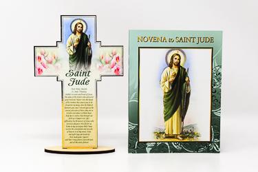 Saint Jude Wood Cross & Booklet.