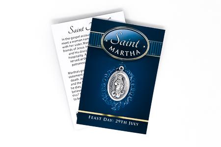 St. Martha Oxidized Medal.