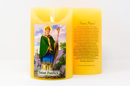 Real Wax Saint Patrick Candle.
