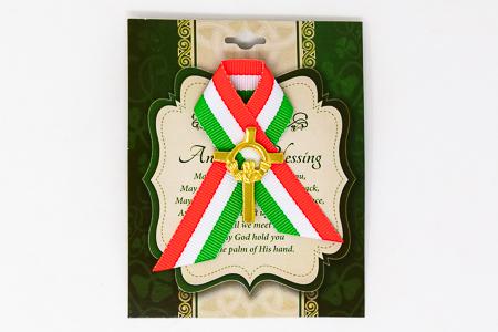 Saint Patrick Day Celtic Claddagh Cross.