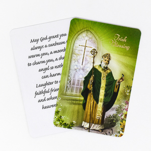 Prayer Card with Gold Medal - St. Patrick.