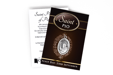 Saint Pio Oxidized Medal.