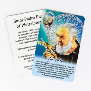 Saint Pio Prayer Card.