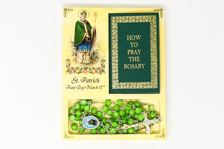Novena Book & Saint Patrick Rosary Beads.