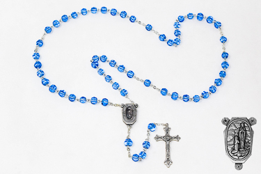 Lourdes Water Crystal Rosary Beads