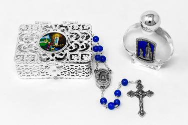 Semi Precious Agate Rosary Gift Set